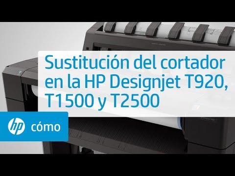 Sustitución del cortador en la HP Designjet T920, T1500 y T2500   HP Printers   HP