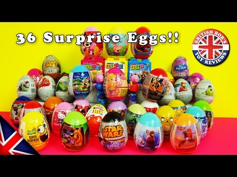 36 Super Surprise Eggs Opened | British Bobs Toy Reviews