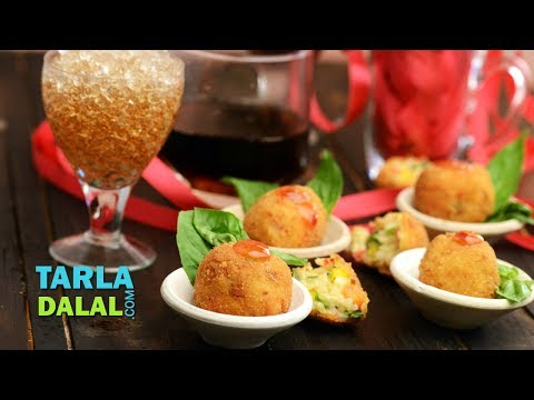 Risotto Balls with Pizza Sauce, Recipe in Hindi (रिसोटो बॉल्