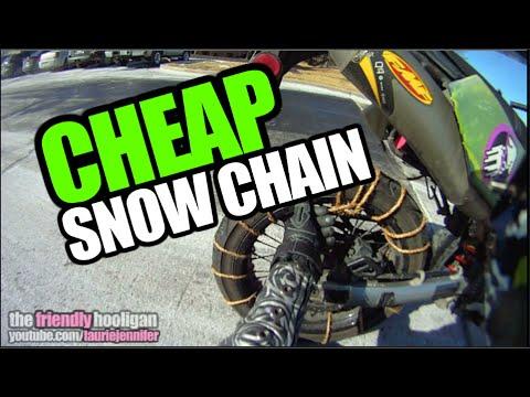 Cheap Motorcycle Snow Chain! +Redneck Garage