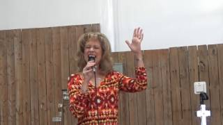 heather thomas van deren sings the song he chose me at branded cross cowboy church texas