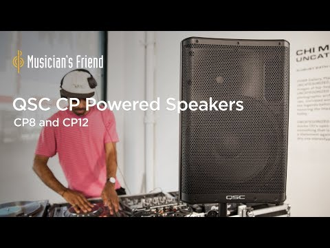 QSC CP8 and QSC CP12 Powered Speakers