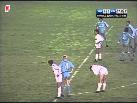 Real M - PSV. EC-1988/89 (2-1, et)