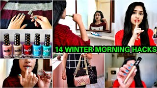 14 Winter Morning hacks for LAZY PEOPLE | Skincare, makeup hacks, Life hacks |