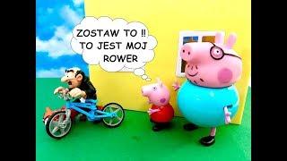 Cz. 1 - Świnka Peppa Bajka po Polsku - Gargamel (Smerfy) ukradl Rower
