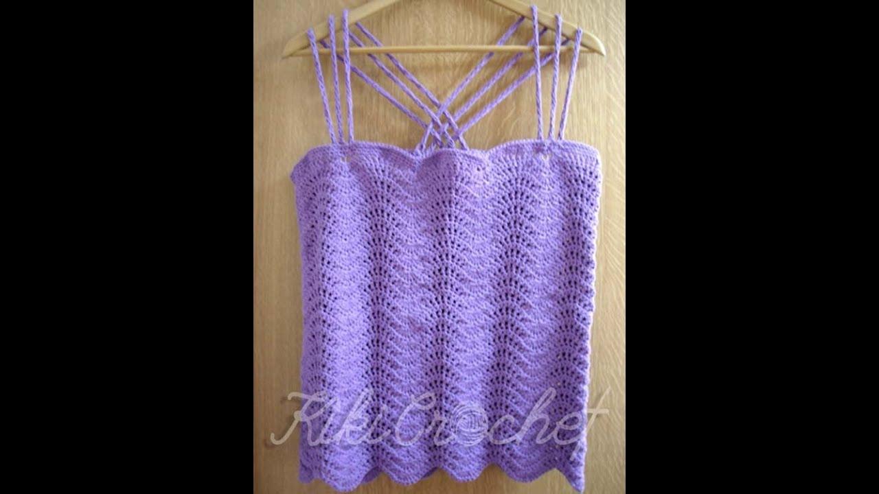 8802083ceefe Πλεκτη Καλοκαιρινη Μπλουζα με Βελονακι (μερος 1ο)/ Crochet Wavy Stitch  Shirt Tutorial (part 1)