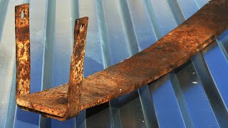 Do not dispose of a car leaf spring! You can make it a cool thing!!!
