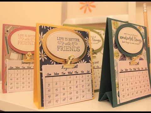 Delightful Daisy Desk Calendar - #1 in Easy Craft Fayre Ideas