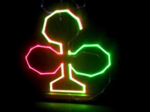Đèn laser mini quét tia, chạy hình động, chớp led - Den san khau