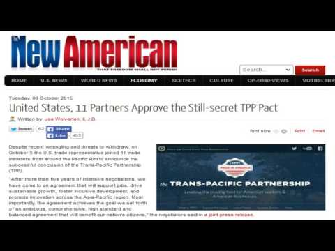 United States, 11 Partners Approve the Still-secret TPP Pact