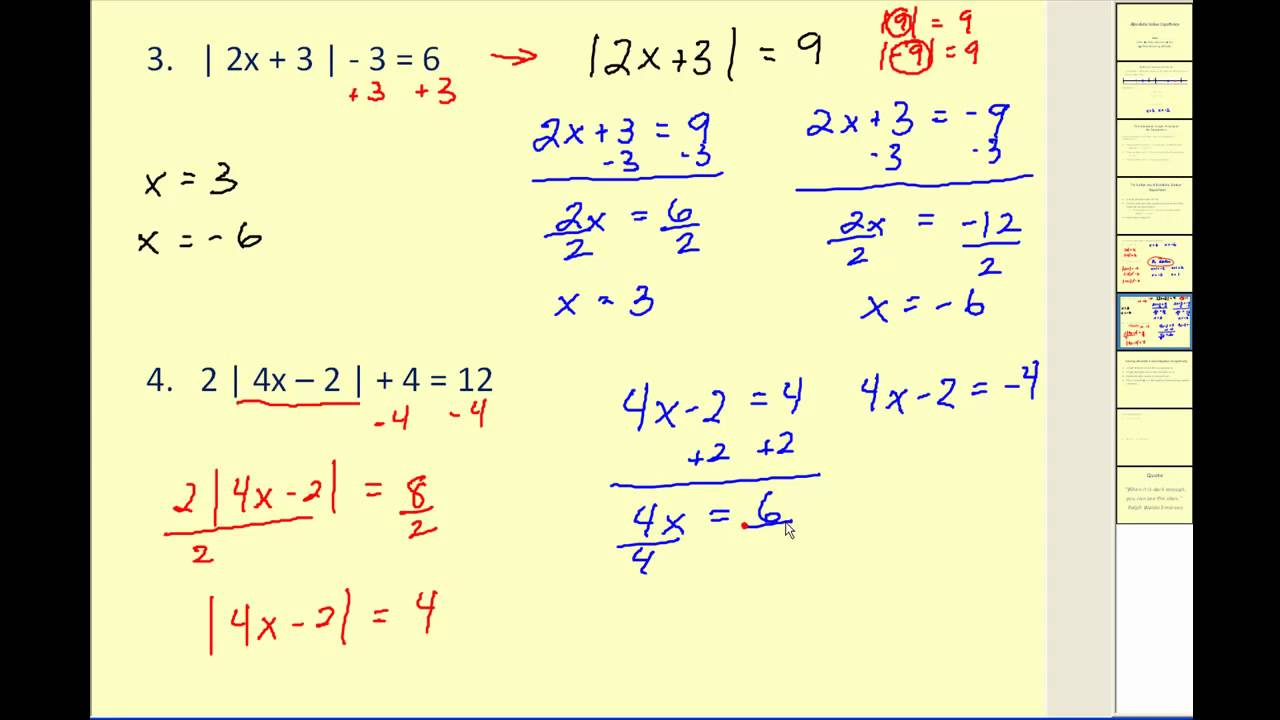 Download Absolute Value Equations
