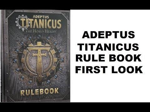 Adeptus Titanicus: Rule Book First Look - Flip through - Read Through -  Titan Legions