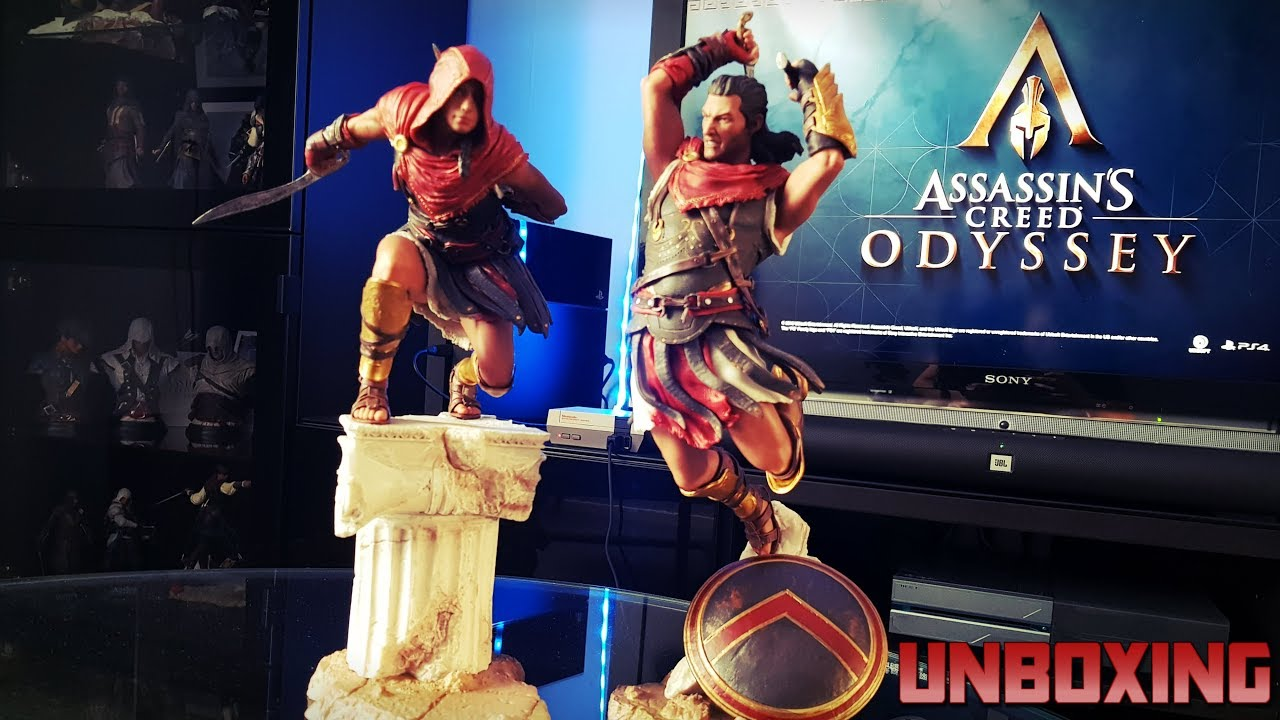 Assassin S Creed Odyssey Alexios Kassandra Figures Unboxing