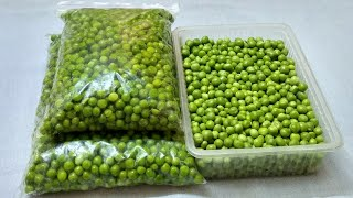 How To Store Green Peas For Months | Preserve Green Peas | Frozen Peas| Frozen Matar | फ्रोजन  मटर ।