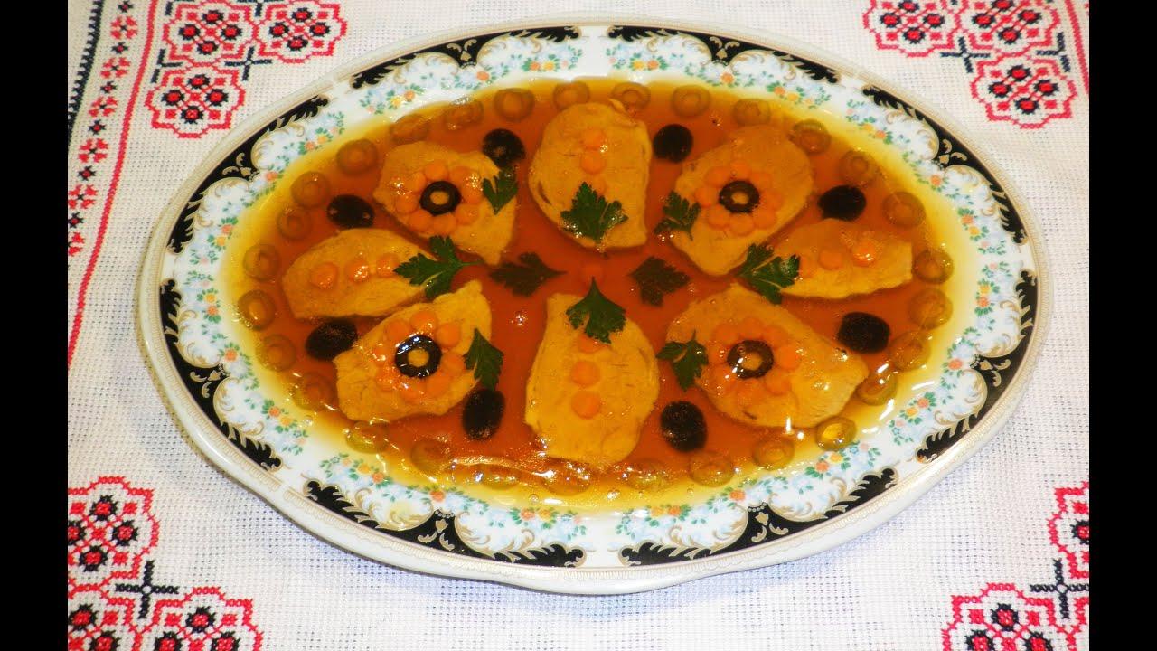 Мясо под фруктовым желе / М'ясо у фруктовому желе / Свинина в яблочным желе.