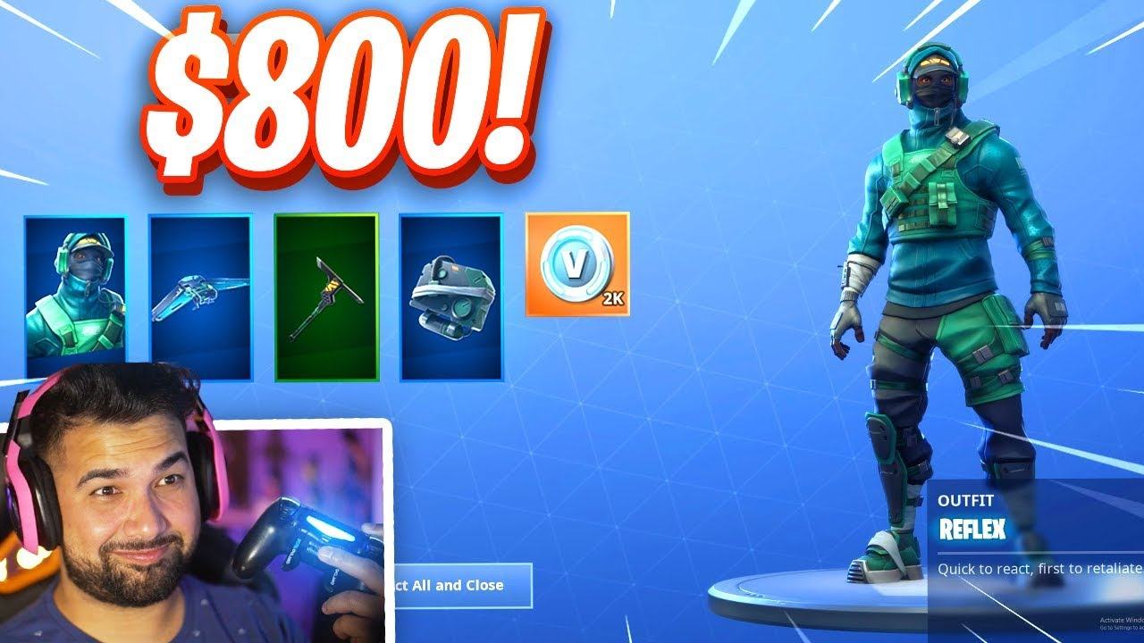 SO.. I Got The GeForce Skin Bundle in Fortnite..