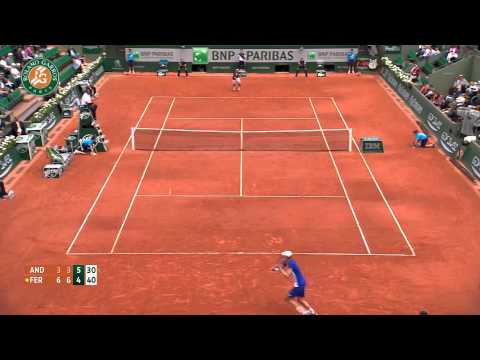 Roland Garros 2014 Monday Highlights Anderson Ferrer