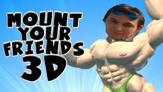 ЮТУБЕРЫ КАЧКИ СТРОЯТ БАШНЮ ДРУГ ИЗ ДРУГА - MOUNT YOUR FRIENDS 3D