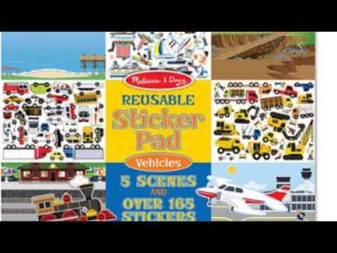 Melissa And Doug Vehicles Reusable Sticker Pad Youtube
