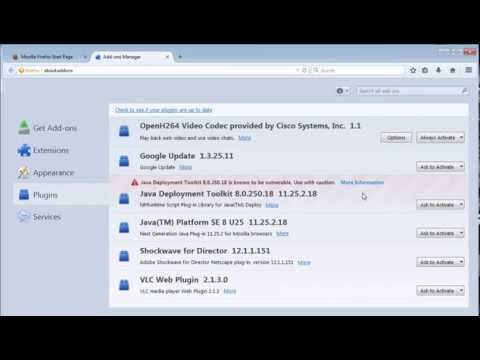 How to remove Java Deployment Toolkit Plugin from Firefox - YouTube