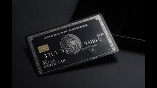 """The Black Card"" American Express Centurion Card (Replica)"