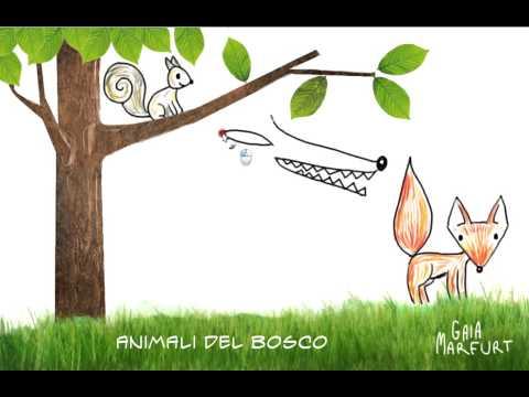 Disegno Gli Animali Del Bosco Youtube