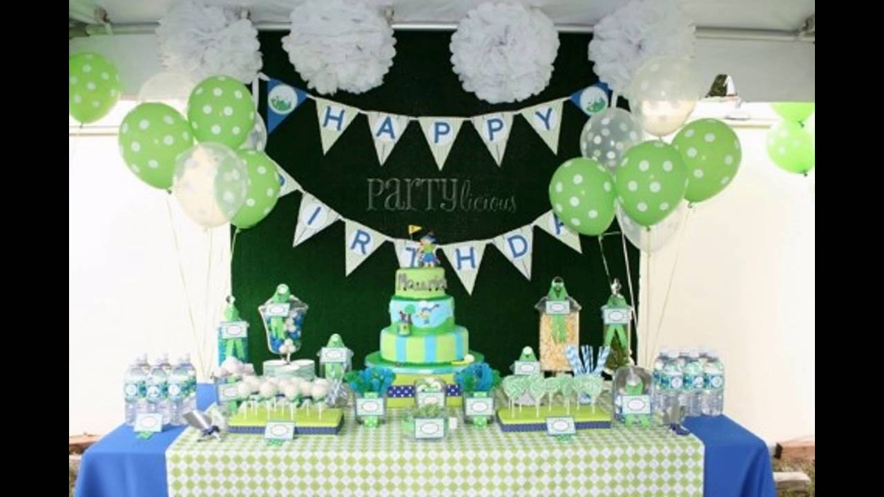 Golf themed party decoration ideas youtube for Golf decoration ideas