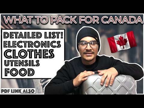 Packing For Canada | What To Pack As An International Student | Full List