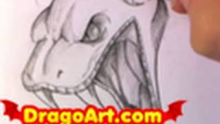 How to Draw a Snake Head, Draw a Snake, Pencil Work