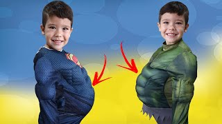 Nós comemos demais!! We ate too much | Video for kids