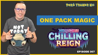 Pokémon Sword & Shield Chilling Reign One Pack Magic or Not, Episode 07 #Shorts