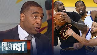 Cris Carter's reason KD's Warriors will sweep LeBron's Cavs in NBA Finals | NBA | FIRST THINGS FIRST