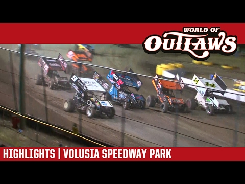 World of Outlaws Craftsman Sprint Cars Volusia Speedway Park February 17, 2017 | HIGHLIGHTS