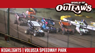 World of Outlaws Craftsman Sprint Cars Volusia Speedway Park Highlights
