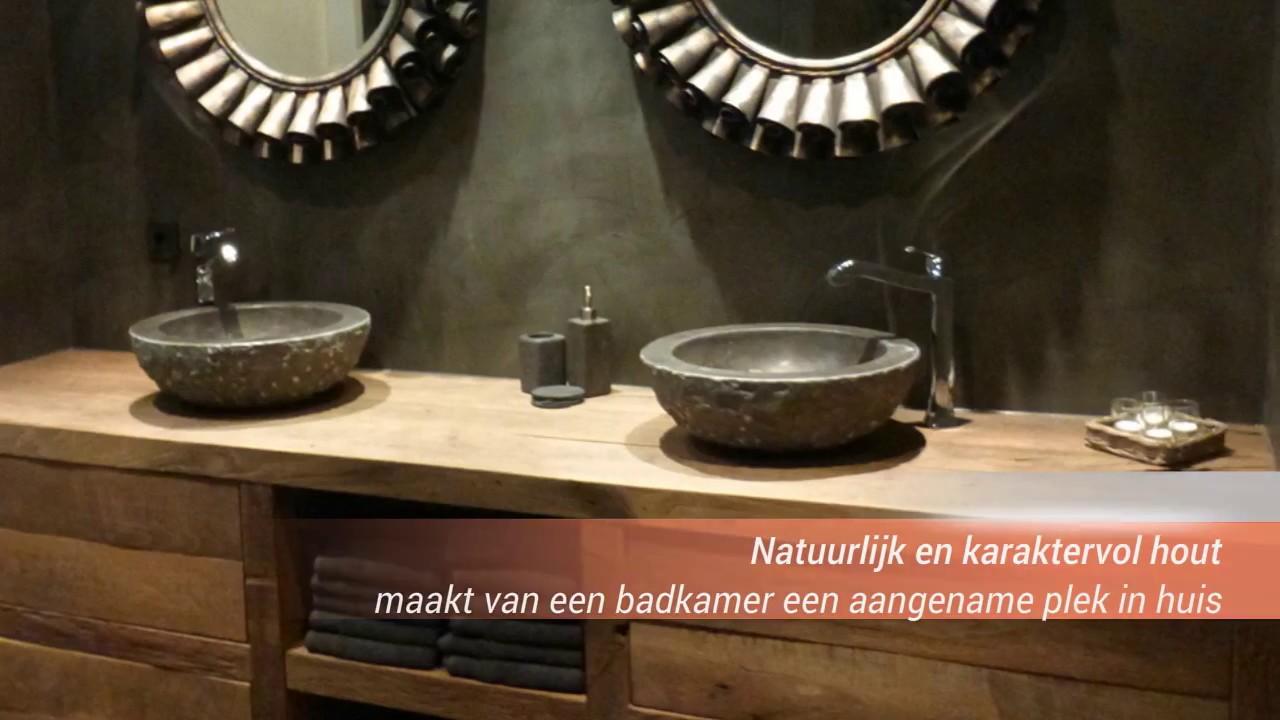 Houten badkamermeubel op zoek naar een mooi houten badkamermeubel