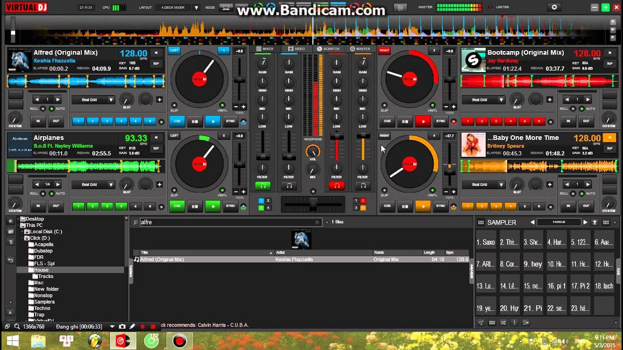 Create superb audio compositions and broadcast them with Virtual DJ