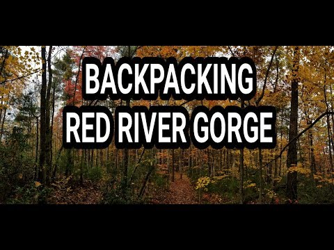 Red River Gorge: My first backpacking video: Appalachian Trail 2018 here I come!!!