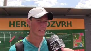 Petr Hájek po prohře v prvním kole na turnaji Futures v Ústí n. O.