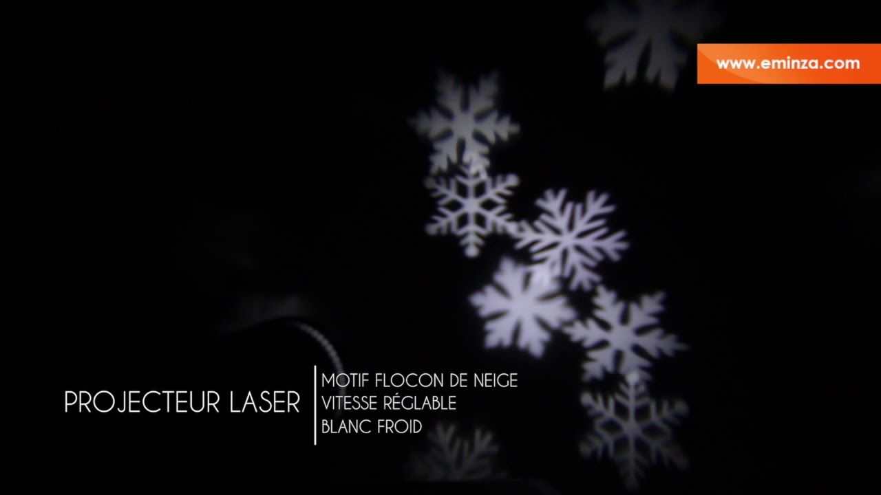 projecteur laser flocon blanc froid 4 led youtube