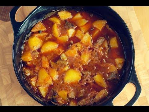 Тушеное мясо с картошкой