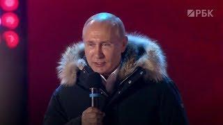 Владимир Путин на Манежной площади в Москве