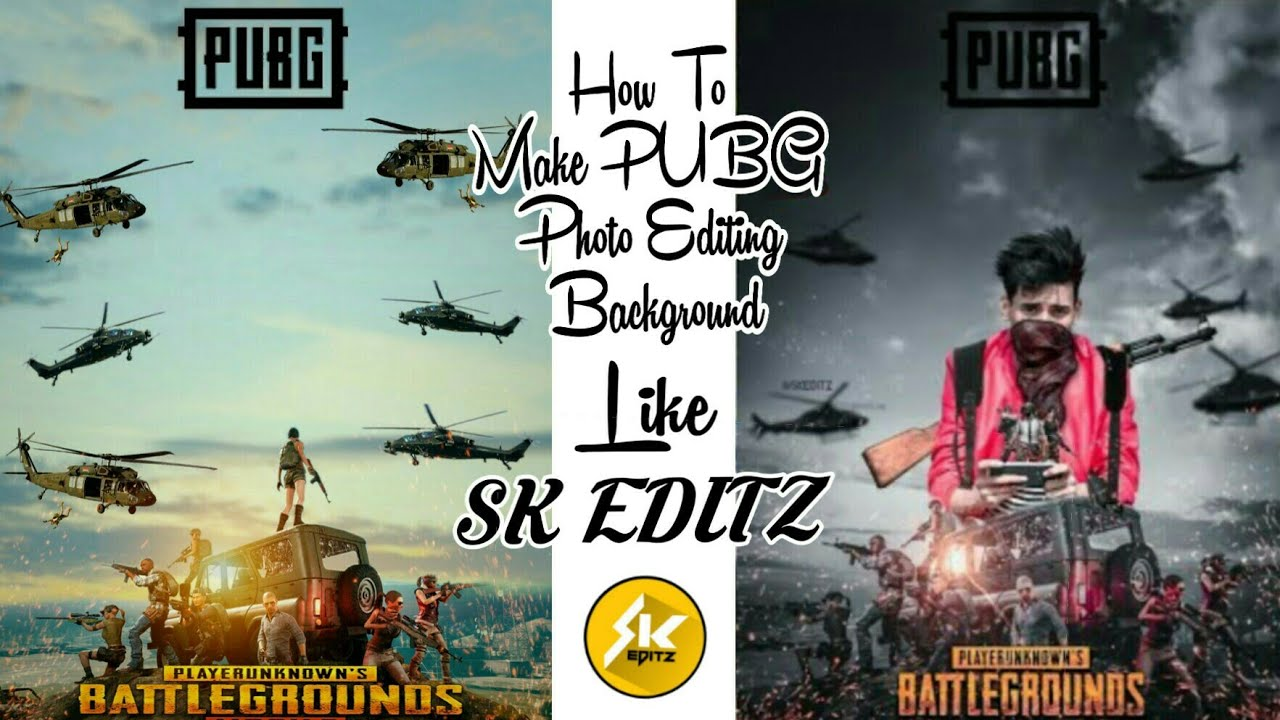 How To Pubg Background Editing In Picsart Like Sk Editz 2018