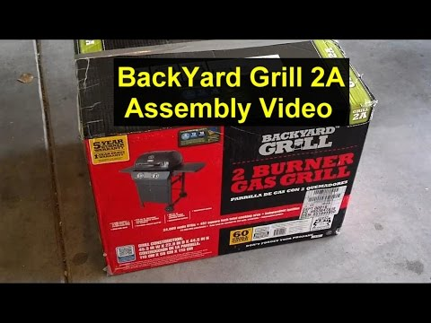 How to put a grill together, Backyard Grill, Grill 2A.