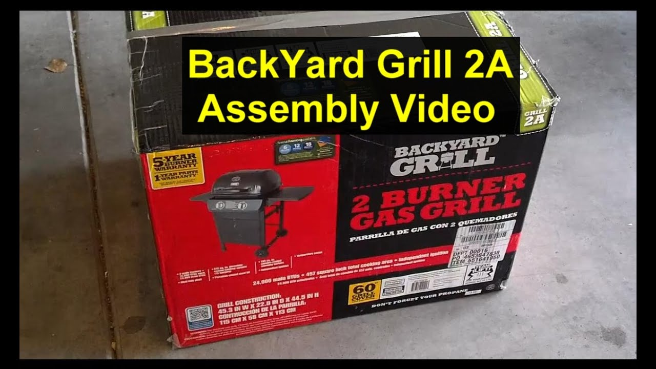 how to put a grill together backyard grill grill 2a youtube