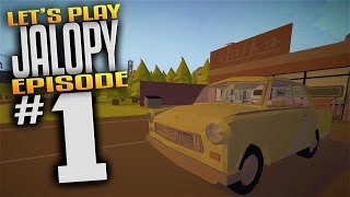 Jalopy Gameplay - Ep 1 - Driving My Piece of SH#T Car (Lets Play Jalopy Gameplay) (Mature)