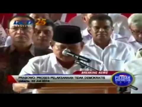 Prabowo TOLAK hasil Pilpres oleh KPU 22 juli 2014 - Berita terbaru Hari ini | Wonderdir Pilpres