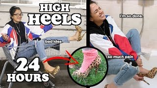 i wore high heels for 24 hours straight *painful*   clickfortaz