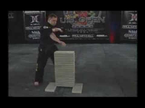 Master Drew Serrano- World Record Power Concrete Break