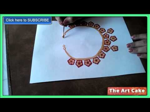 Vegetable Printing to paint a Chain  How to paint a Chain by Lady