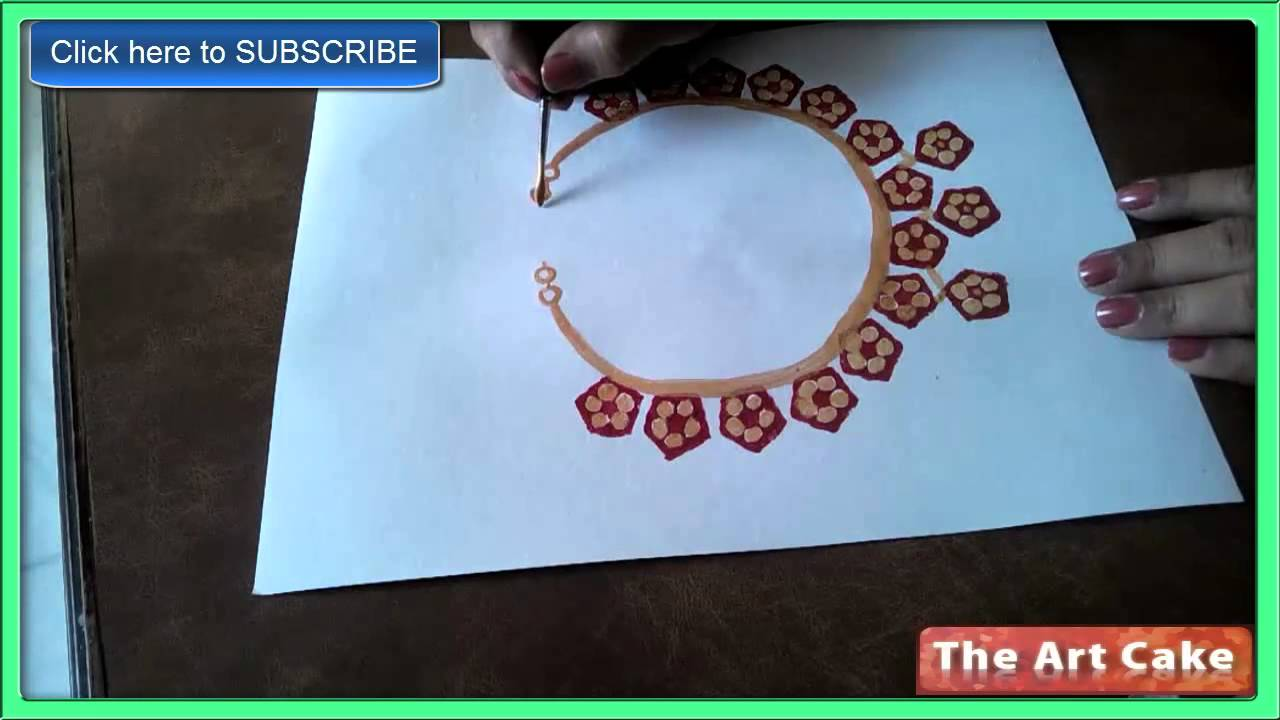 vegetable printing to paint a chain how to paint a chain by lady u0027s